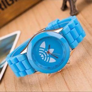 Unisex Sky Blue Trefoil Sports Fashion Watch